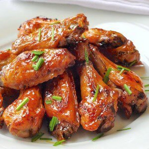 Dijon Brown Sugar Glazed Baked Chicken Wings