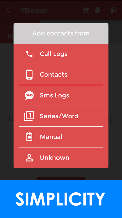 VBlocker: Call and SMS Blocker Screenshot 2