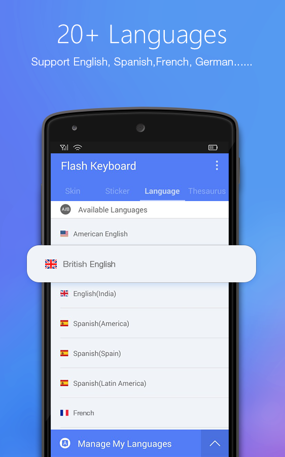 Flash Keyboard - Emojis & More Screenshot 4