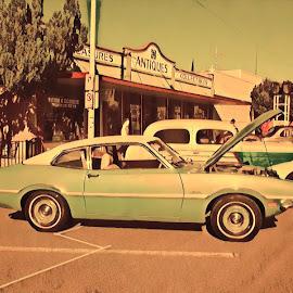 Green Maverick by Johnny Knight - Novices Only Objects & Still Life ( creative, color, art, vehicle, city )