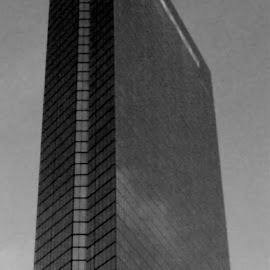 John Hancock Tower 1 Black And White by RMC Rochester - Black & White Buildings & Architecture ( abstract, building, black and white, random, architecture, city,  )