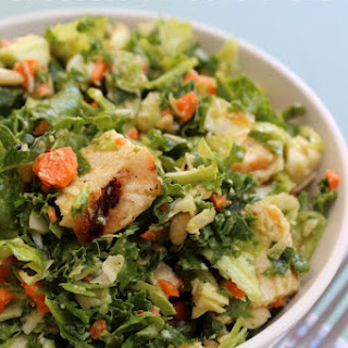 Chicken & Kale Brussels Sprouts Salad