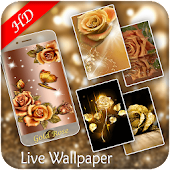 App Golden Rose Live Wallpaper - Love Rose Wallpaper APK for Windows Phone