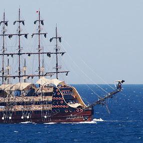 BarBossa by Deep Ocean - Transportation Boats ( old, antaliya, classical, ship, mediterranean, travel photography,  )