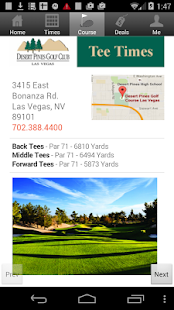 Desert Pines Tee Times - screenshot