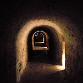 Passageway by Rich Hooper - Buildings & Architecture Public & Historical ( fortress, hallway, underground, fort, tunnel )