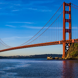 The Golden Gate Bridge by John Rourke - Buildings & Architecture Bridges & Suspended Structures ( marin county, 2017, fort baker, golden gate bridge, ca, california, landscape, usa )
