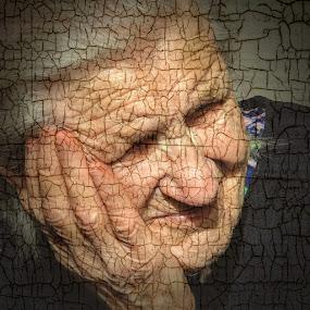 Mother by Zenonas Meškauskas - Digital Art People ( face, old, mother, texture, woman )