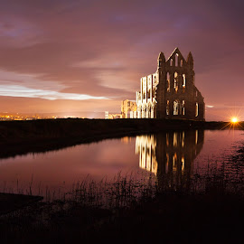 Whitby Abbey by Mark Davis - Buildings & Architecture Public & Historical ( north yorkshire, whitby abbey, whitby sunset, bram stoker, whitby by night, whitby aby )