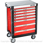 7 Drawers Roller Cabinet With Metal Worktop