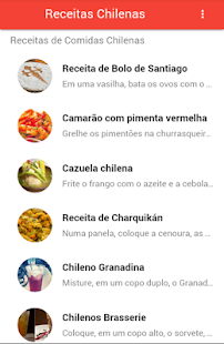 Receitas Chilenas - screenshot