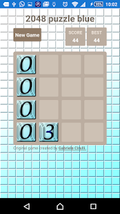 2048 puzzle blue - screenshot