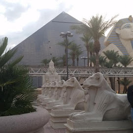 Outside Luxor, Las Vegas by Maricor Bayotas-Brizzi - Buildings & Architecture Statues & Monuments