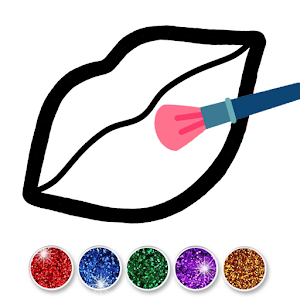 Glitter Toy Lips with Makeup Brush Set coloring For PC / Windows 7/8/10 / Mac – Free Download