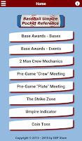 Screenshot of Baseball Umpire Pocket Ref