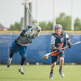 Laying out for the stick check by Keith Kijowski - Sports & Fitness Lacrosse