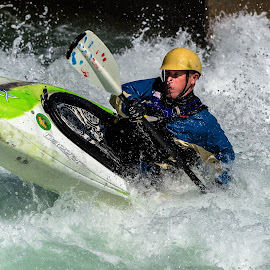 Kayaker by Mike Watts - Sports & Fitness Watersports ( water, kayaker, kayak, whitewater )