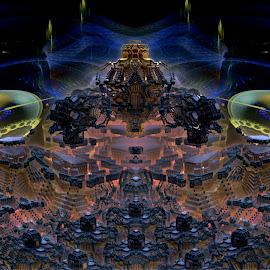 On Higher Ground by Rick Eskridge - Illustration Sci Fi & Fantasy ( fantasy, jwildfire, mb3d, fractal, twisted brush )