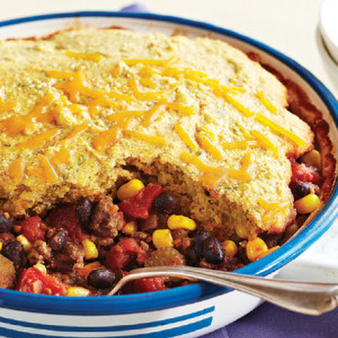 Corn Bread-Topped Beef & Black Bean Chili