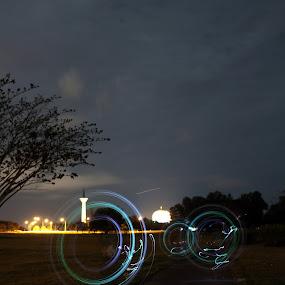 spinning by Shoox De LightPainter - Landscapes Weather ( sky, borneolightartphotography, kuching, photoshoox, lightpainting, sarawak )