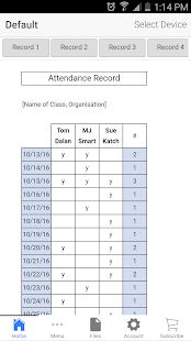 Attendance Record Pro Business app for Android Preview 1