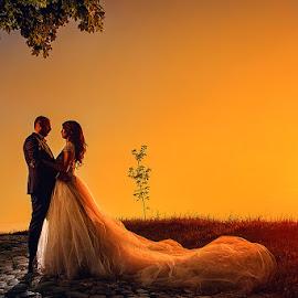 wedding by Dejan Nikolic Fotograf Krusevac - Wedding Bride & Groom ( vencanje, wedding, sunset, krusevac, kalemegdan, zalazak sunca, beograd, svadba, bride, groom )