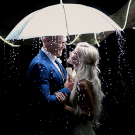 Rain by Lood Goosen (LWG Photo) - Wedding Bride & Groom ( love, wedding photography, wedding photographers, wedding day, wedding, weddings, brides, wedding photos, couple, wedding photographer, bride and groom, bride, groom, rain )