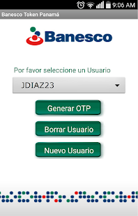 Banesco Token Panamá - screenshot