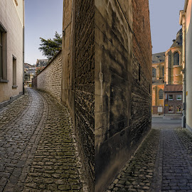 alley intersection by Ghislain Vancampenhoudt - City,  Street & Park  Historic Districts