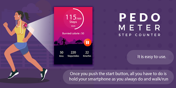 Pedometer: Step Counter Fitness app screenshot 1 for Android