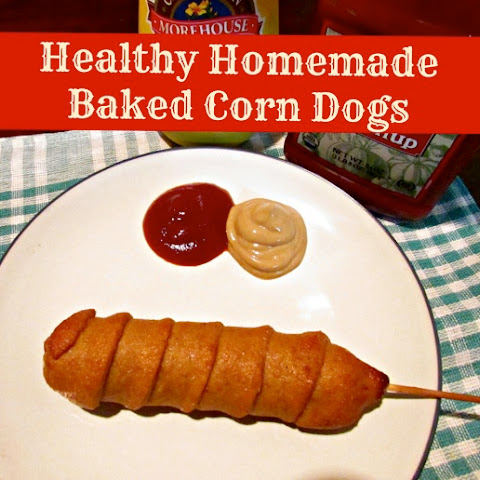 Healthy Homemade Baked Corn Dogs