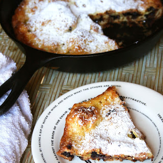 Chocolate filled Olive Oil Dutch Baby