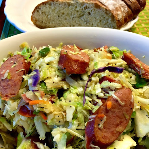 One Pot Kielbasa and Fried Cabbage