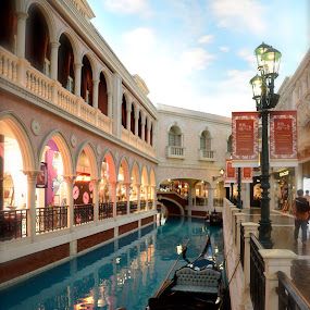 venetian macau by Mishesh Ramesh - Buildings & Architecture Other Exteriors ( water, gondola, sky, bridge, boat )
