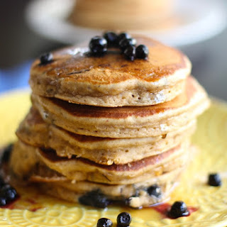 Healthy Whole Wheat Blueberry Pancakes