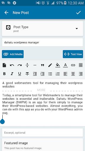 Dahatu Wordpress Manager - screenshot