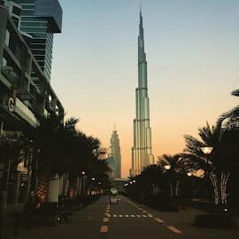 Sunset is still my favourite colour... Dubai, UAE by Anita Louise - Buildings & Architecture Bridges & Suspended Structures