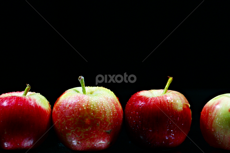 A row of Apples. by Dipali S - Food & Drink Fruits & Vegetables ( fruit, food, red apples, apples, row )