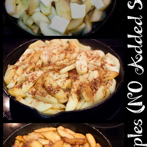 Quick and Easy Skillet-Fried Apples (NO Sugar)