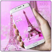 APK App Pink eiffel tower paris theme for BB, BlackBerry
