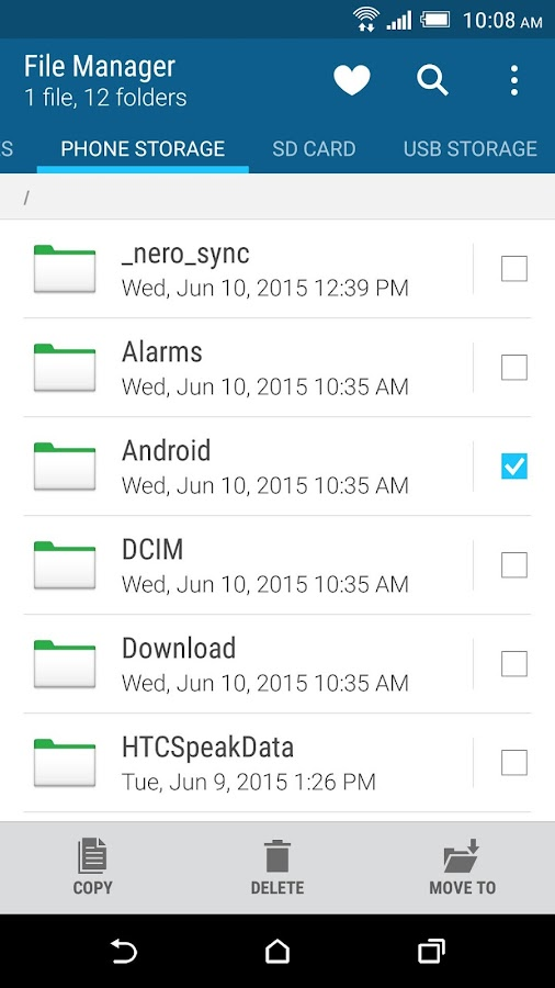 HTC File Manager Screenshot 1