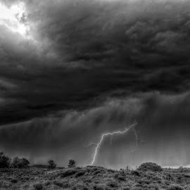 Strike One! by Kent Moody - Landscapes Cloud Formations ( clouds, lightning, monsoon, weather, storms,  )