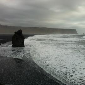 Vik i Myrdal by Hrvoje Sunjic - Landscapes Beaches ( myrdal, iceland, vik, vik i myrdal, volcanic sand, fingers of black rock, black sand, reynisdrangur )