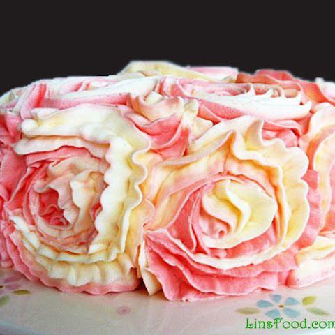 Lemon and Raspberry Rose Cake