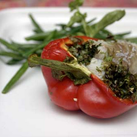 Herb and Cod Stuffed Peppers