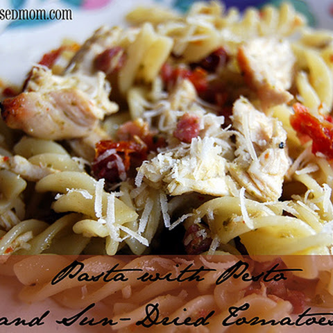 Pasta with Pesto and Sun Dried Tomatoes