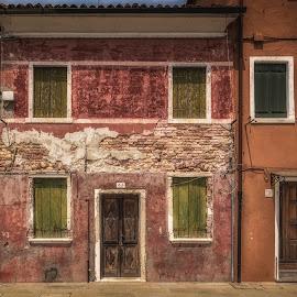 Burano by Ole Steffensen - Buildings & Architecture Homes ( venezia, houses, venice, burano, homes, italy )