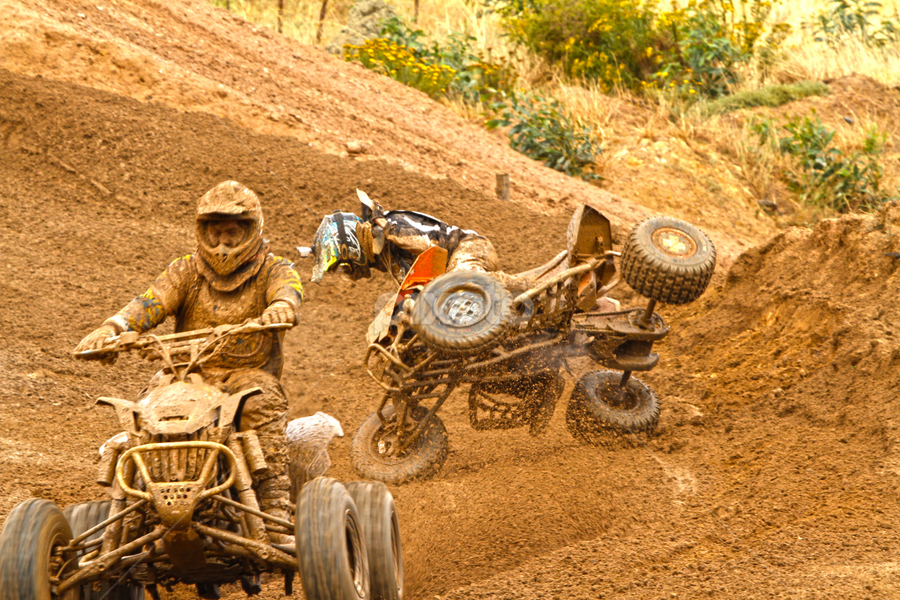 Almost by Heinrich Sauer - Sports & Fitness Motorsports ( mud, racing, fall, qaud bike, wet )