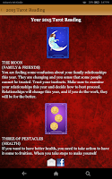 Screenshot of Tarot Card Reading