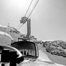 Cable Car by Pravine Chester - Transportation Other ( photograph, cable car, switzerland, transportation )